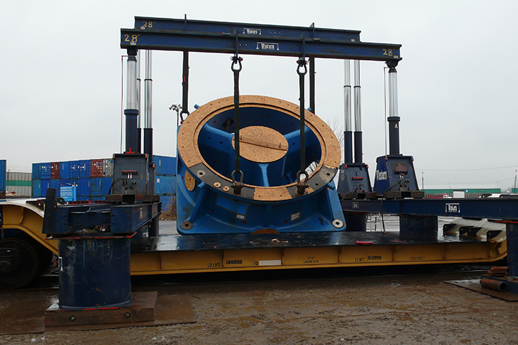 Move of Crusher System from Spain via Valleyfield, QC and Cochrane, ON for a Gold Mine in Northern Ontario