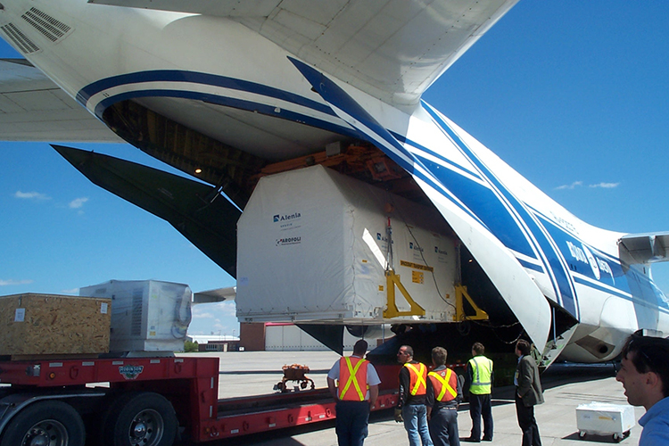 Incoming Satelite from Italy for delivery to Ottawa
